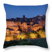 Lights On Pitigliano Throw Pillow