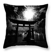 Lights Over Japan Throw Pillow
