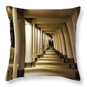 Lights Shadows And Arches Throw Pillow
