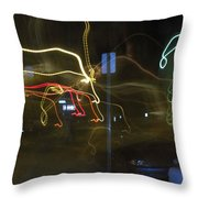 Lights That Attack Cars Two Throw Pillow
