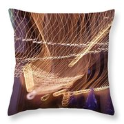Lights That Dance Together Throw Pillow
