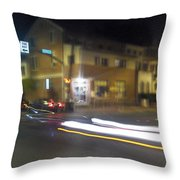 Lights That Race Throw Pillow