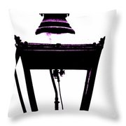Lightshade In A Hint Of Purple Throw Pillow