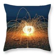 Lighty Fireworks Throw Pillow