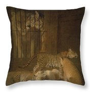 Ligres Bred  Agass Throw Pillow