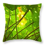 Ligularia Tussilaginea Throw Pillow