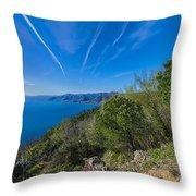 Liguria Paradise Gulf Panorama Throw Pillow