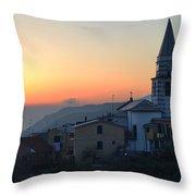 Ligurian Sunset Throw Pillow