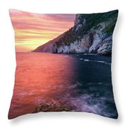 Ligurian Sunset - Vertical Throw Pillow