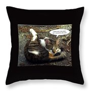 Like A Cat Throw Pillow