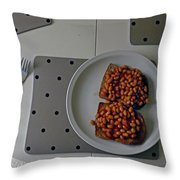Like-beans Throw Pillow