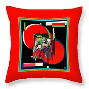 Like Burrow In It's Abstract Burroughs The Word On It's Side Throw Pillow