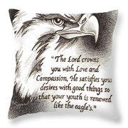 Like The Eagle Throw Pillow