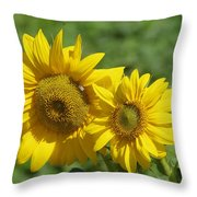 Like Two Smiles In Bloom Throw Pillow