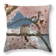 Lil Bushtit Throw Pillow