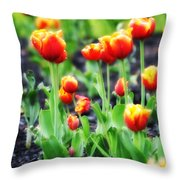 Lil Tulips Throw Pillow