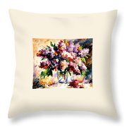 Lilac - Morning Mood Throw Pillow