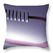 Lilac And Louvers Throw Pillow