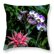 Lilac And Pink Throw Pillow