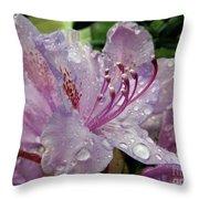 Lilac Azalea Throw Pillow