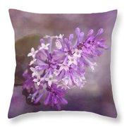 Lilac Blossom Throw Pillow