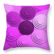 Lilac Bouquet Throw Pillow