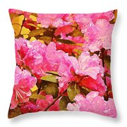 Lilac Candy Throw Pillow