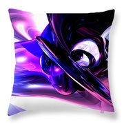 Lilac Fantasy Abstract Throw Pillow