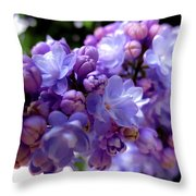 Lilac Flower Throw Pillow