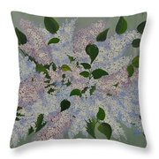 Lilac Flowers Expressing Harmony Throw Pillow