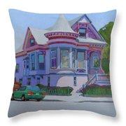 Lilac House, Alameda Throw Pillow