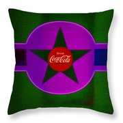 Lilac Labelscape Throw Pillow