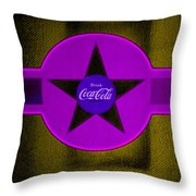 Lilac On Orange Throw Pillow