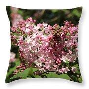 Lilac Pink Throw Pillow