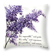 Lilac  Poem Throw Pillow