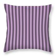 Lilac Purple Striped Pattern Design Throw Pillow