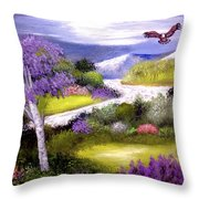 Lilac Valley Throw Pillow
