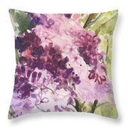 Lilacs - Note Card Throw Pillow