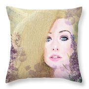 Lilacs And Lavender Throw Pillow