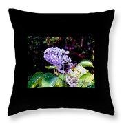 Lilacs Throw Pillow by Deleas Kilgore