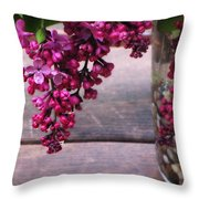 Lilacs In A Vase Throw Pillow