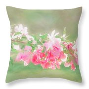 Lilacs In Sunshine Throw Pillow