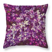 Lilacs Throw Pillow