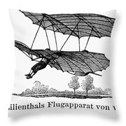 Lilienthal Glider, 1895 Throw Pillow