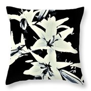 Lilies All Aglow Throw Pillow