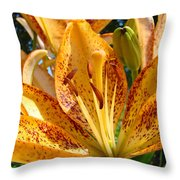 Lilies Art Prints Orange Lily Flowers 2 Gilcee Prints Baslee Troutman Throw Pillow