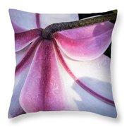Lilies Backside Throw Pillow