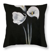 Lilies Ffor Brandy Throw Pillow
