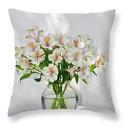 Lilies In A Vase 001 Throw Pillow