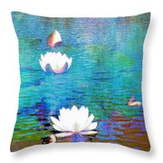Lilies In Abstract Throw Pillow